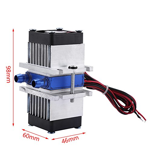DIY 144W Dual-chip Thermoelectric Peltier Refrigeration TEC1-12706 Cooler with Water Cooling System (Single Cooler) by Walfront (Image #1)