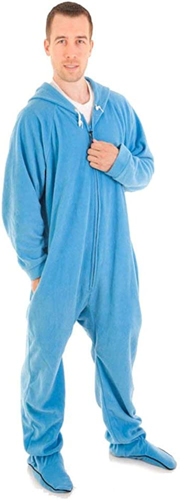 Unisex Forever Lazy Adult Onesies with Detachable Feet for Men and Women One-Piece Pajama Jumpsuits