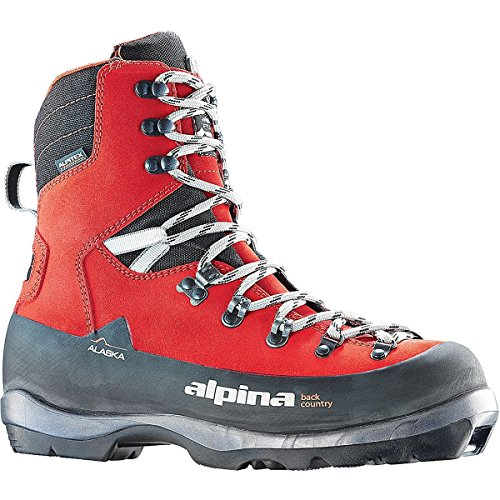 Alpina Sports Alaska Leather Backcountry Cross Country Nordic Ski Boots, Red, Euro 45