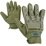 good airsoft gear - Valken V-TAC Full Finger Plastic Back Airsoft Gloves, Olive, X-Large