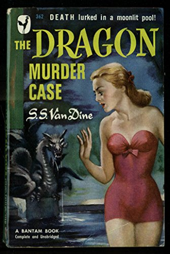 S S Van Dine: The Dragon Murder Case 1st PB GGA redhead swimsuit cleavage