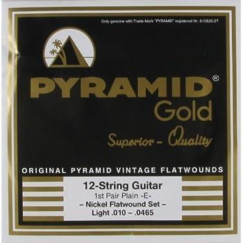 Pyramid Gold Pure Nickel Flat Wound 12 String, .010 - .0465, GF1210