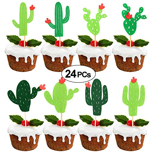 Cactus Cupcake Toppers Fiesta West Cacti Theme Baby Shower Summer Cupcake Party Pick Birthday Party Supplies