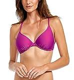 Body Glove Women's Smoothies Solo Solid Underwire D, DD, E, F Cup Bikini Top Swimsuit, Magnolia