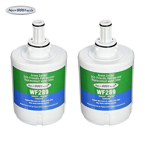 Aqua Fresh WF289 Refrigerator Filter Compatible with Samsung DA29-00003B, RSG257AARS, RFG237AARS, DA29-00003F, HAFCU1, RFG297AARS, RS22HDHPNSR, WSS-1, WFC2201 (2 Pack)