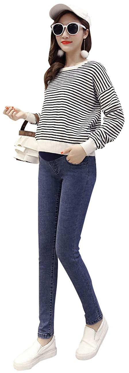 Foucome Maternity Over//Under The Belly Super Soft Stretch Skinny Jeans