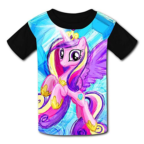 My Little Pony Painting Children T-Shirts Crew Neck Short Sleeve Raglan Costume Tee Shirt for Boys