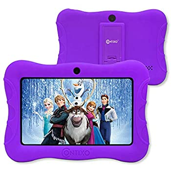 Contixo V9-3-32 7 Inch Children Pill, 2GB RAM 32 GB ROM, Android 10 Pill, Instructional Tablets for Children, Parental Management Pre Put in Studying Sport Apps WiFi Bluetooth Tablets for Children, Purple