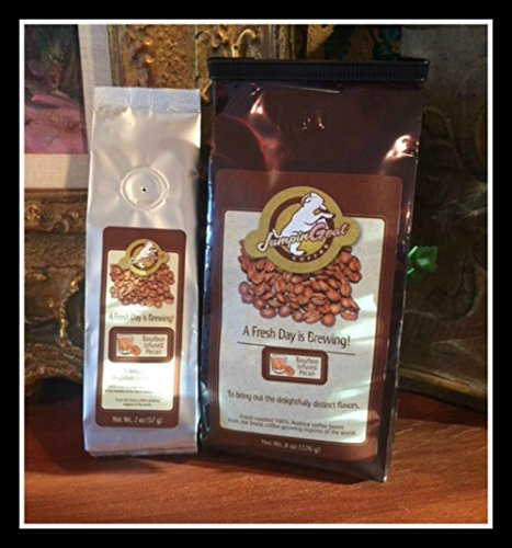 (Bourbon Infused Pecan Gourmet Ground Coffee by JumpinGoat Coffee Roasters)