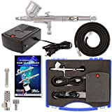 Master Performance G23 Airbrush Kit with Master Compressor Mini Portable TC-22, Air Hose