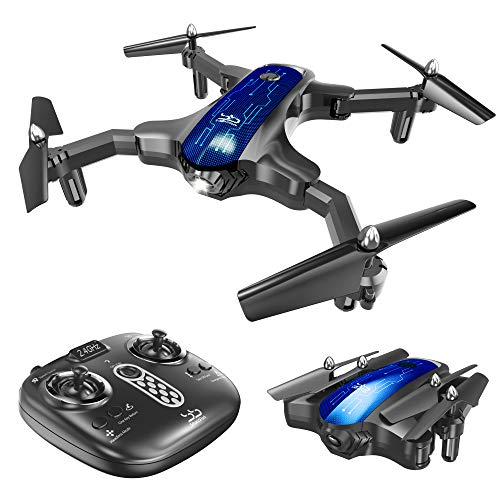ScharkSpark Drone for Beginners, Portable RC Quadcopter with Foldable...