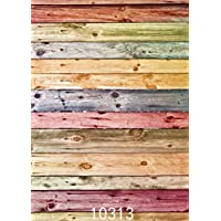 SJOLOON 5x7ft Heavy Duty Photography Vinyl Backdrop Background Picturesque Colors Wood Floor 10313