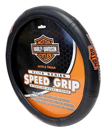 Harley-Davidson Steering Wheel Cover, Vintage Elite Bar & Shield Speed Grip 6644