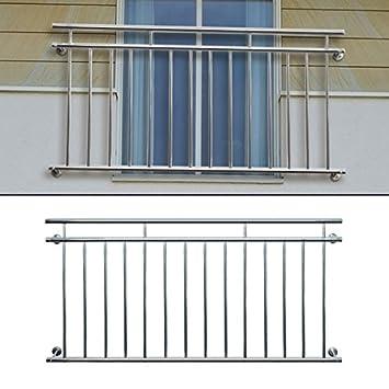 Ecd Germany Franzosischer Balkon 100 X 90 Cm Glanzender Edelstahl Balkongelander