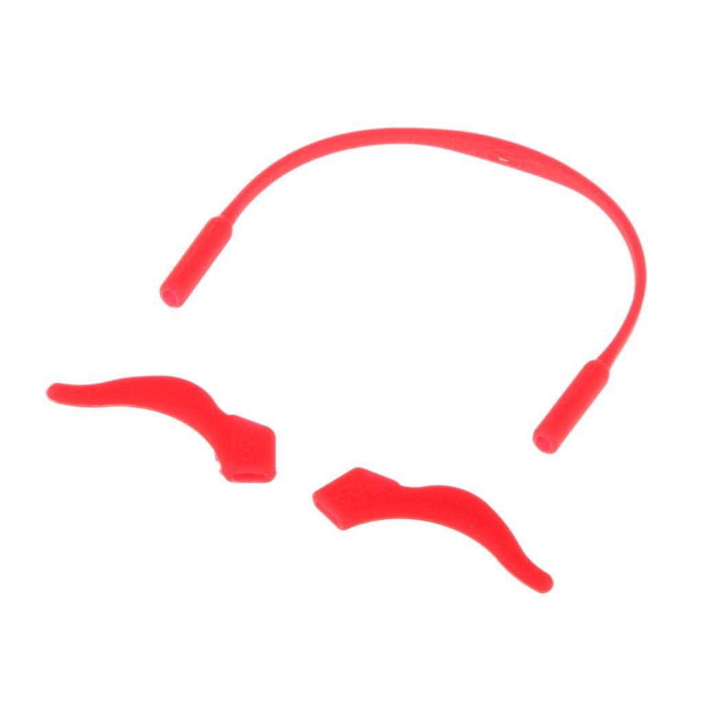 Rojo 41 Cable Banda Soporte De Gafas De Sol Silicona Correa Seguridad Deporte para Ni/ños