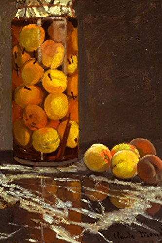 Claude Monet A Jar Of Peaches Poster - 24x36 inch