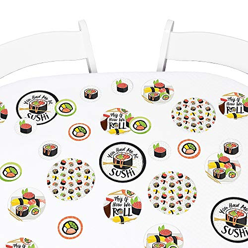 Big Dot of Happiness Let's Roll - Sushi - Japanese Party Giant Circle Confetti - Party Decorations - Large Confetti 27 Count]()