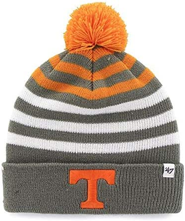 NCAA Kids Cuffed Winter Toque College Knit Cap 47 Brand Yipes Youth Beanie Hat POM POM