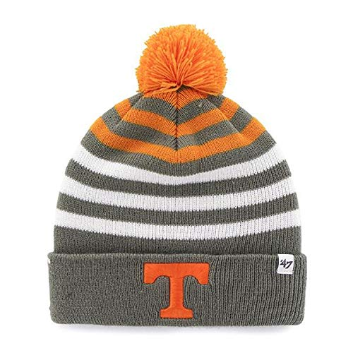 '47 Youth Tennessee Volunteers Cuff Yipes Beanie Hat with POM POM - NCAA Kid's Cuffed Winter Knit Toque Cap ()