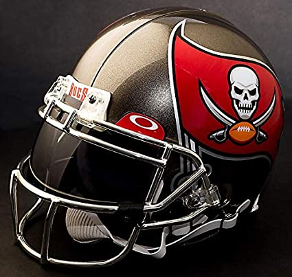 e46ad3535 Image Unavailable. Image not available for. Color  Riddell Tampa Bay  Buccaneers NFL Authentic Gameday Football Helmet with Dark-Tint Eye Shield