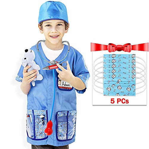 Dissytoys Veterinarian Costume Playset Role Play Dress up Set for Kids 12 PCS -
