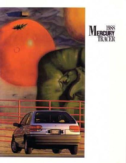 1988 Mercury Tracer Sales Brochure Literature Book Advertisement Options Specs