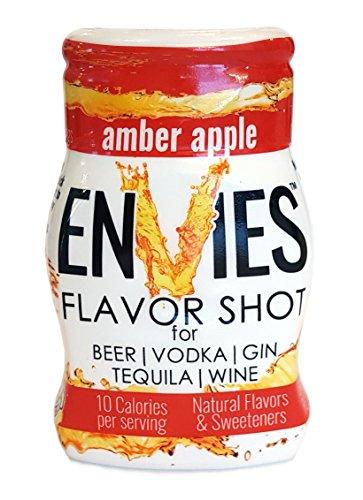 Envies Flavor Shot Amber Apple Squeeze Mini Bottle Cocktail Mixer