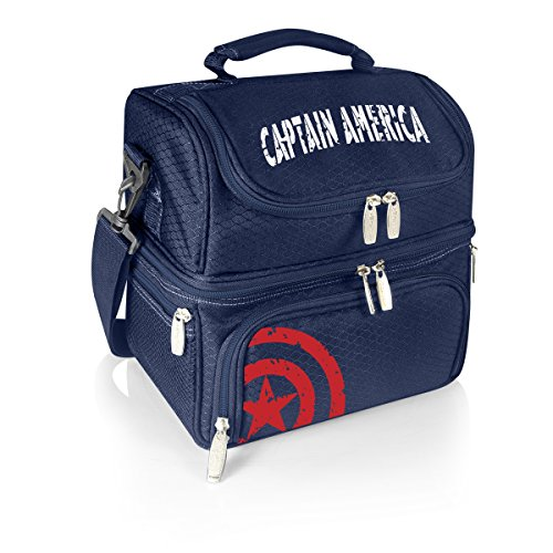 Marvel Captain America Pranzo Insulated Lunch Tote with Service for (America Box)