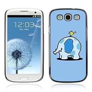 Designer Depo Hard Protection Case for Samsung Galaxy S3 / Cute Elephant & Bird