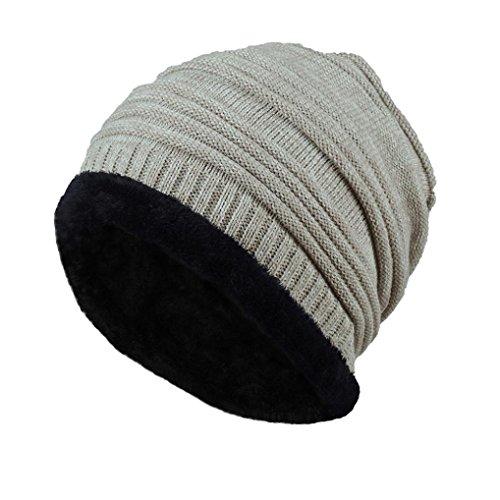Hemlock Outdoors Warm Hats Men, Women Knit Hats Beanie Cap Thick Winter Snow Hats (Khaki)