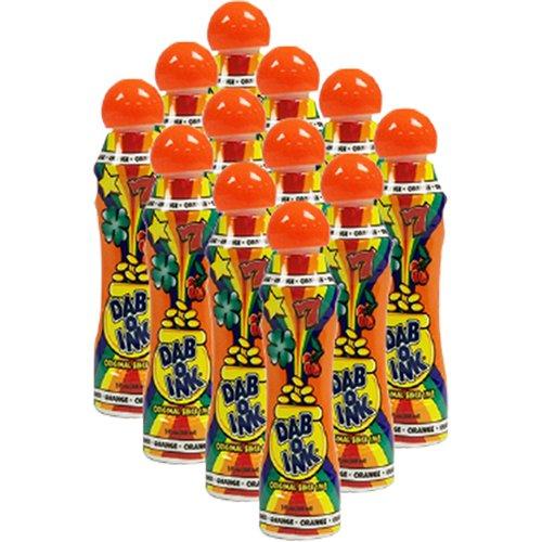 Dab-O-Ink One Dozen 3oz Orange Bingo - Orange Bingo