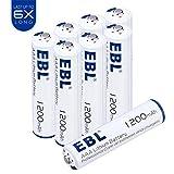 EBL 1.5V AAA Lithium Batteries 1200mAh Battery Last 6 Times Longer 8 Pack