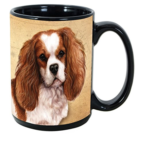 Imprints Plus Dog Breeds (A-D) Cavalier King Charles 15-oz Coffee Mug Bundle with Non-Negotiable K-Nine Cash (cavalier king charles 048)