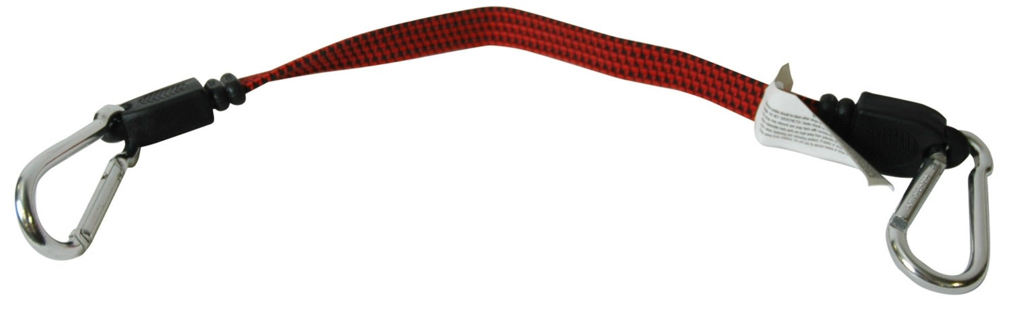 Highland (9431300 Red 20'' Carabiner Fat Strap Bungee Cord