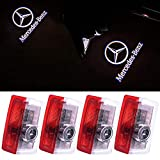 Klinee Car Door LED Lighting Logo Lights Projector Courtesy Welcome Lights For Mercedes-Benz(4-Pack)