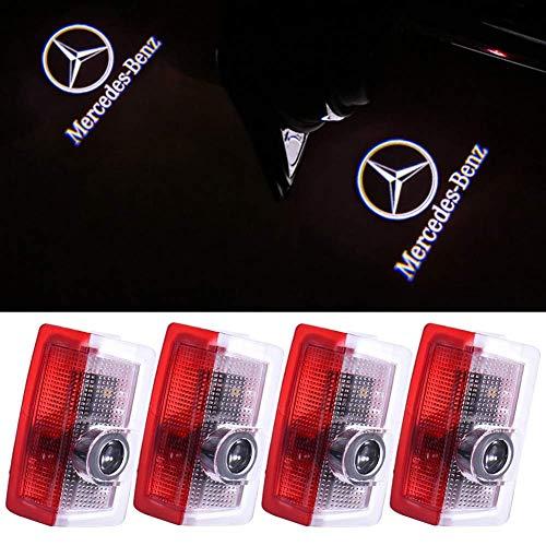 Klinee Car Door LED Lighting Logo Lights Projector Courtesy Welcome Lights For Mercedes-Benz(4-Pack)