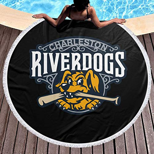 - XIXIZYJ Round Beach Towel, Charleston RiverDogs Microfiber Soft Super Water Absorbent Multi-Purpose Towel Mat for Beach Yoga Picnic Tapestry,59in X 59in
