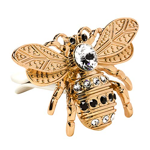 Lunna Queen Bee Embellished With Swarovski Crystals Rose Gold Vent Clip - Pack of 1 ()