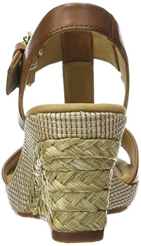 Gabor Shoes Comfort, Sandalias con Cuña Para Mujer Marrón (peanut Bast)