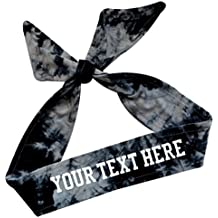 Tie Back Sport Headband with Your Custom Team Name or Text in Vinyl by Funny Girl Designs