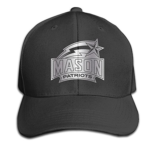 George Mason Patriots Platinum Logo Unisex Baseball Cap Black (Platinum Case Collector)