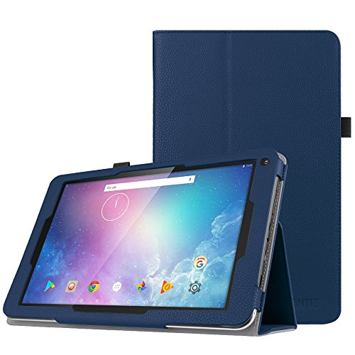 Fintie Folio Case for Dragon Touch V10 10-Inch Android Tablet, Slim Fit Premium PU Leather Stand Cover with Stylus Holder, Navy