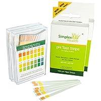 SimplexHealth pH-teststrips voor urine en speeksel (dubbele 200 strips)