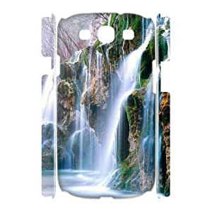 LZHCASE Cover Case Waterfall 3D Diy For Samsung Galaxy S3 I9300 [Pattern-1]