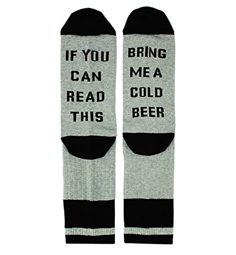 If You Can Read This Novelty Funny Saying Beer Socks Crew Socks, Gag Beer Gift for Men