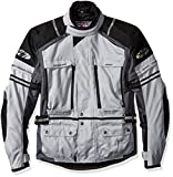 Joe Rocket Ballistic Adventure Men's Textile Touring Motorcycle Jacket (Silver/Gunmetal, Medium)