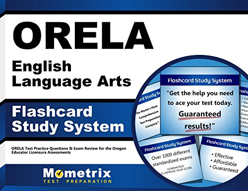 ORELA English Language Arts Flashcard Study System: ORELA Test Practice Questions & Exam Review for the Oregon Educator Licensure Assessments (Cards) by Brand: Mometrix Media LLC