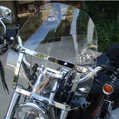 Large Clear Smoke Windshield for Yamaha Cruiser Motorcycle 7/8 & 1