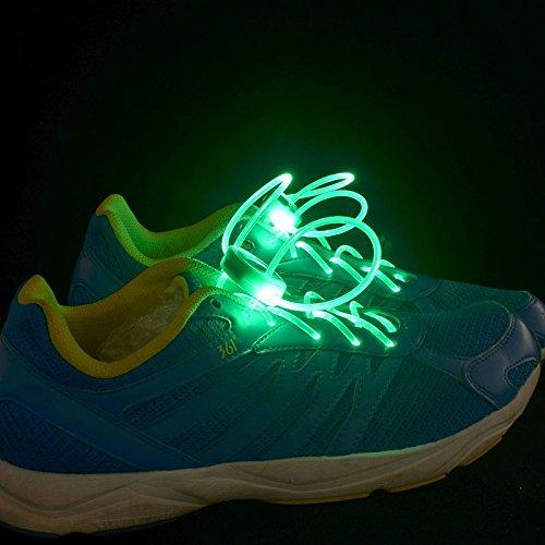 RoseBlue byRisa 4th Generation LED Glowing Shoelaces Flash Shoelaces Shoe Strap Outdoor Dance Party (Party Supplies Burlington)