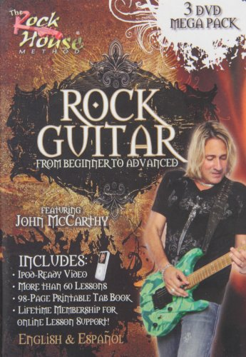 John McCarthy: Rock Guitar 3 DVD Mega Pack (Beginner - (Advanced Rock Guitar Dvd)